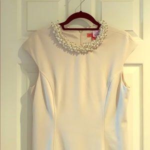 Blush Pink Betsey Johnson Pearl Embellished Dress